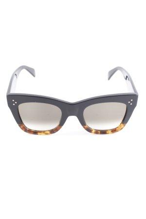 Celine eckige Sonnenbrille schwarz Casual-Look