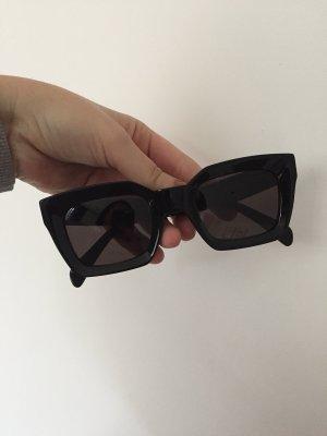 Celine eckige Sonnenbrille schwarz