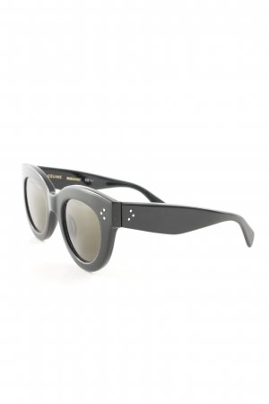 Celine Angular Shaped Sunglasses black-green street-fashion look