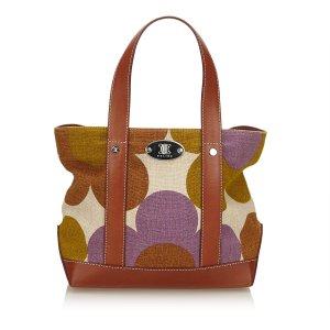 Celine Floral Canvas Tote Bag