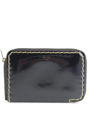 Celine Portemonnee zwart-donkergeel zakelijke stijl