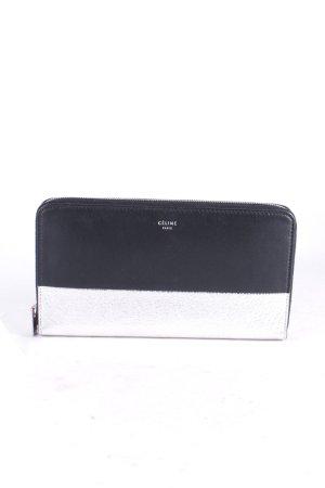 Celine Geldbörse schwarz-silberfarben Eleganz-Look