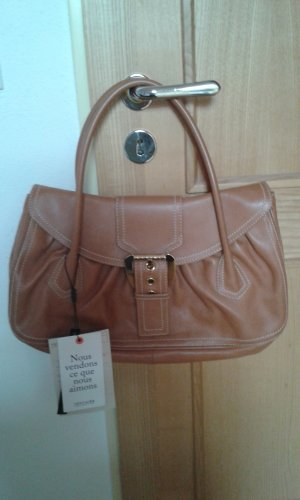 Celine Carry Bag brown-gold-colored leather