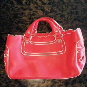 Celine Carry Bag red-white