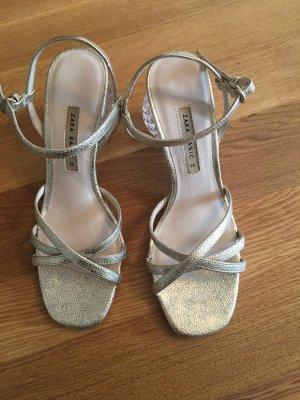 Celine Jacquemus Style Neu Sculpture Heels Sandals Gold