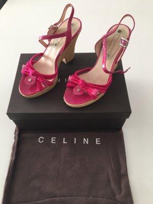 Celiné Keilabsatz 35 Schuhe Pink original Riemchen celine wedges