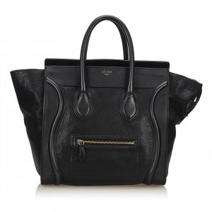 Celine Tote black leather