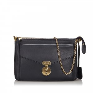Celine Leather Chain Shoulder Bag