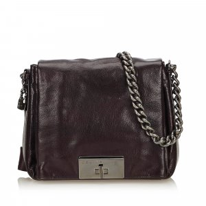 Celine Leather Chain Shoulder Bag