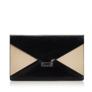 Celine Leather Diamond Clutch Bag