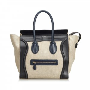 Celine Leather Luggage Tote Bag