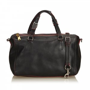 Celine Satchel black leather
