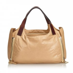 Celine Tote light brown leather