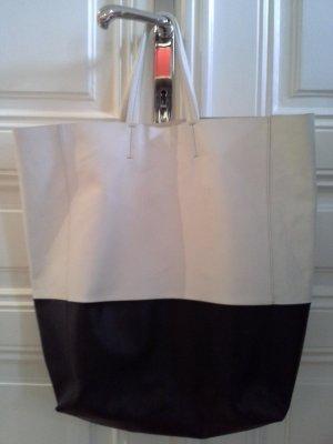 Celine Borsa shopper bianco-nero Pelle