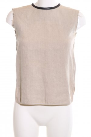 Celine Linen Blouse natural white-black weave pattern business style