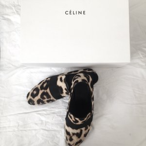 Celine Leopard Ponyfell Slipper