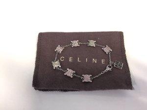 Celiné Logo-Armband silbern mit rosa Steinchen