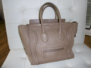 Celine Carry Bag green grey leather