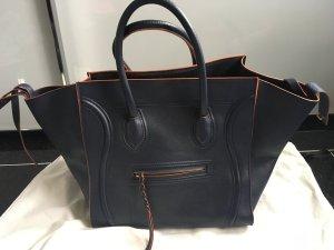 Céline Luggage Phantom blau/orange Large neuwertig