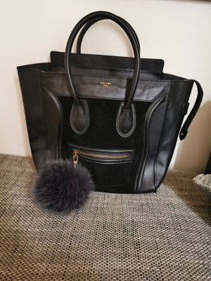 Céline Luggage schwarz/rauleder