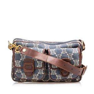 Celine Macadam Denim Crossbody Bag