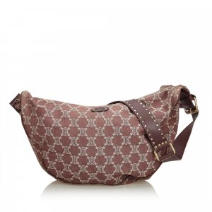 Celine Macadam Denim Hobo Bag