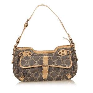 Celine Macadam Denim Shoulder Bag