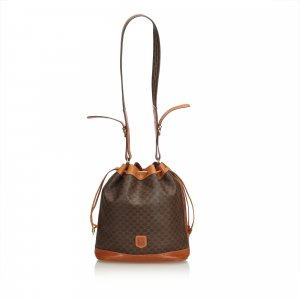 Celine Macadam Drawstring Bucket Bag