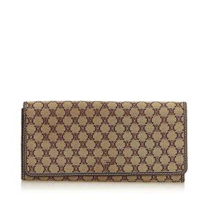 Celine Macadam Jacquard Long Wallet
