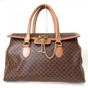 Celine Business Bag brown-dark yellow leather