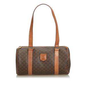 Celine Shoulder Bag brown polyvinyl chloride