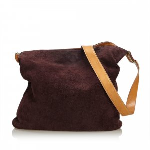Celine Macadam Suede Shoulder Bag