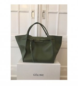 9aa87f94e18b8 Cèline Medium Big Bag Olive