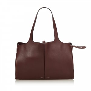 Celine Medium Calf Leather Trifold Shoulder Bag