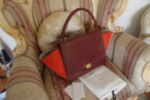 Celine Medium  Trapeze Bag Bordo / Rot Luxus Pur!