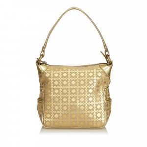 Celine Metallic Pattern Suede Handbag
