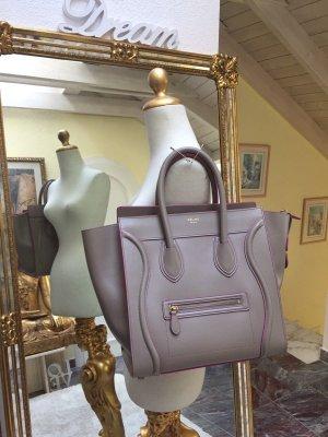 Celine Mini Luggage Bag, Tasche in Farbe Beige ( Puder) mit Fuchsia