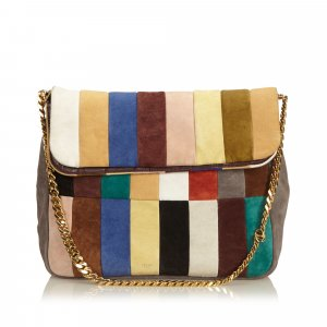 Celine Multi Gourmette Suede Chain Shoulder Bag