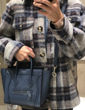 Celine nano luggage petrol blau