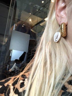 Celine Ohrringe Creolen Neu Gold goldener Ohrringe
