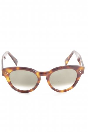 Celine ovale Sonnenbrille braun-hellorange Leomuster Casual-Look