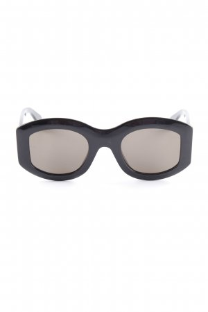 Celine Oval Sunglasses black casual look