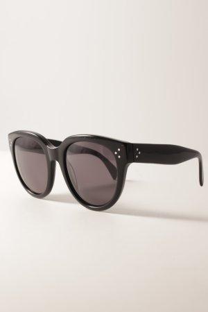 Celine Lunettes rondes noir-gris foncé style décontracté
