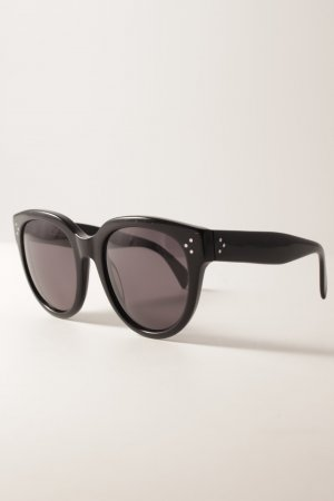 Celine Panto Brille schwarz-dunkelgrau Casual-Look