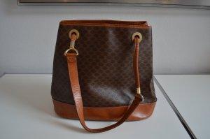 Celine Paris Monogram Leder Tasche Shopper Handtasche braun