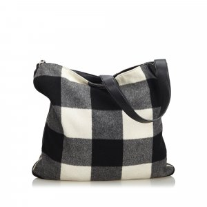 Celine Plaid Wool Shoulder Bag