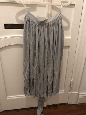 Celine Plisseerock Blau Pastell Rock femininer Skirt Viskose
