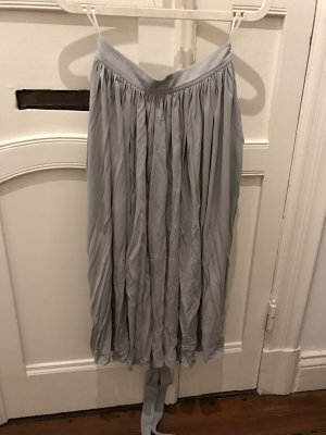 Celine Pleated Skirt pale blue viscose
