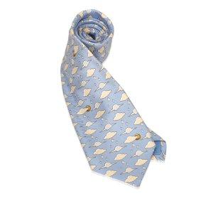 Celine Printed Silk Neck Tie