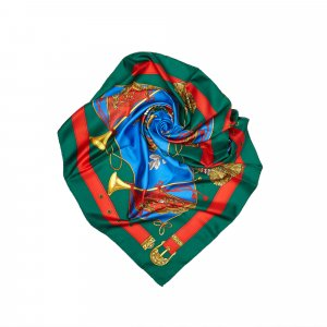 Celine Scarf blue silk